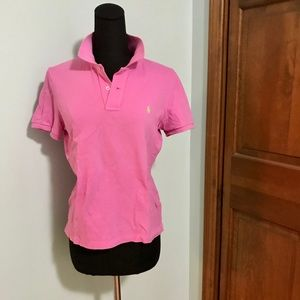 Bright pink polo